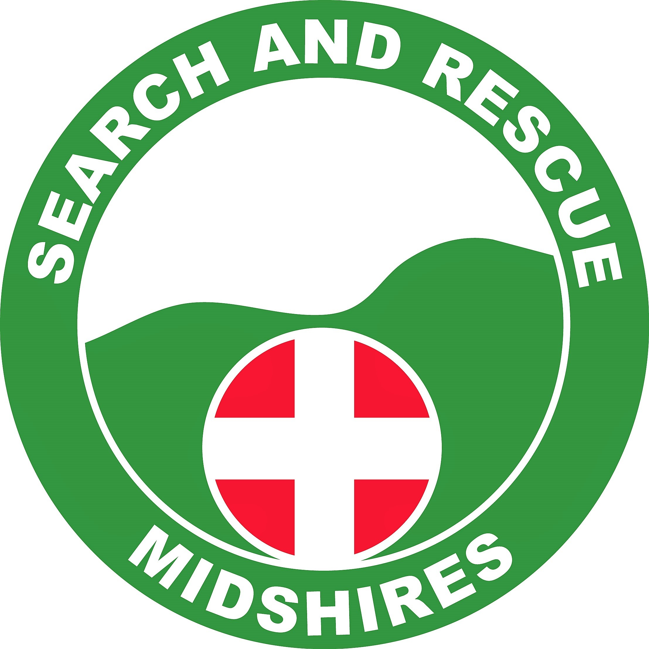 Logo of Midshires Search and Rescue, also referencing ALSAR, links to Home page